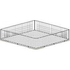 370x370mm Glasswasher Basket